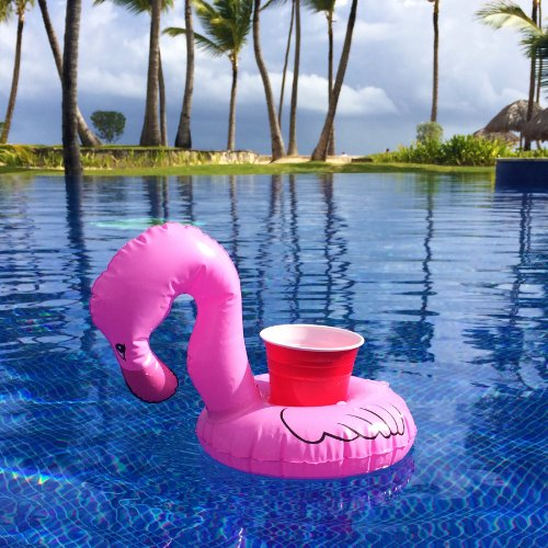 3 Pink Flamingo Drink Holder Floats | Le Float