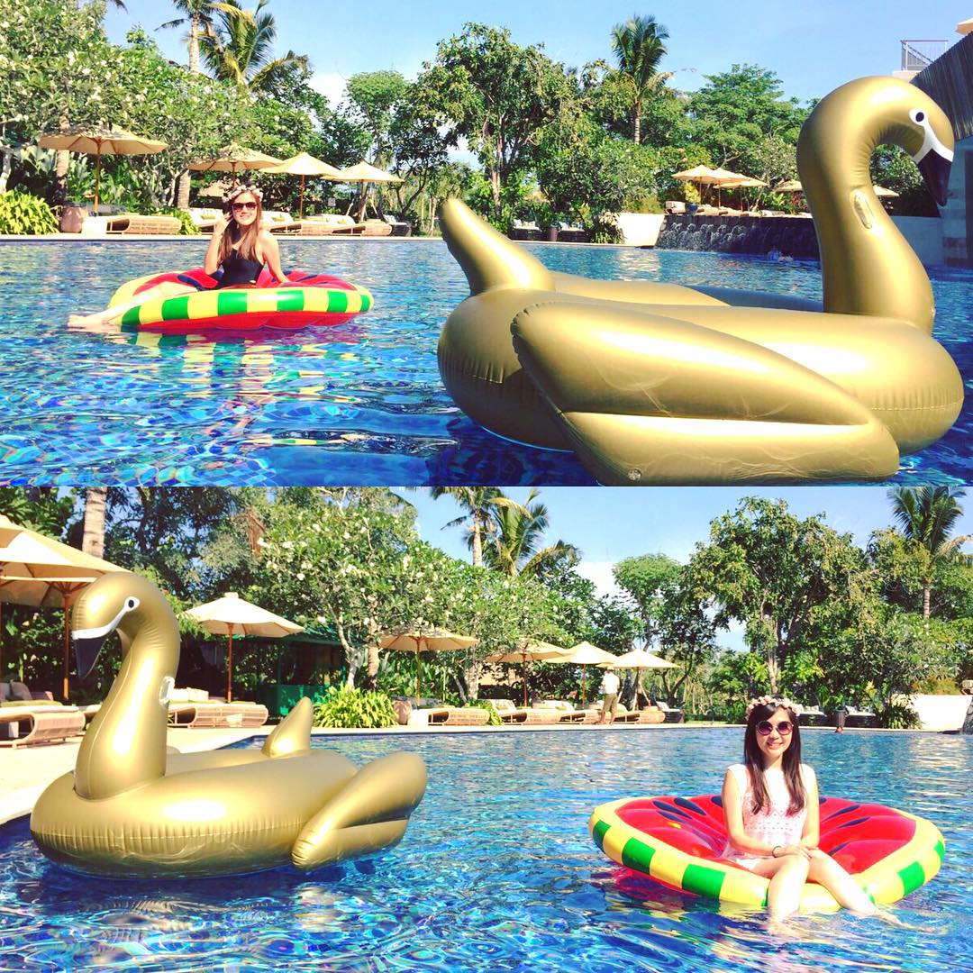 Juliette Gold Swan Floats | Le Float