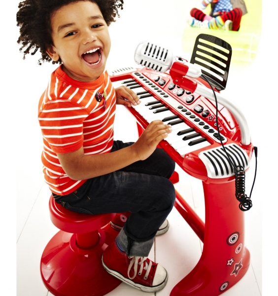 ELC Keyboard and Stool Red | Spotsewa
